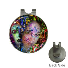 Artistic Confusion Of Brain Fog Hat Clip with Golf Ball Marker