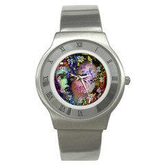 Artistic Confusion Of Brain Fog Stainless Steel Watch (Slim)
