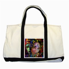 Artistic Confusion Of Brain Fog Two Toned Tote Bag