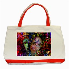 Artistic Confusion Of Brain Fog Classic Tote Bag (Red)
