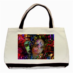 Artistic Confusion Of Brain Fog Twin-sided Black Tote Bag