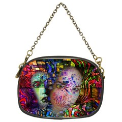 Artistic Confusion Of Brain Fog Chain Purse (two Sided)
