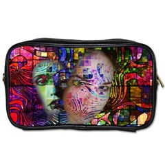 Artistic Confusion Of Brain Fog Travel Toiletry Bag (two Sides)