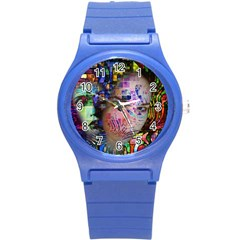 Artistic Confusion Of Brain Fog Plastic Sport Watch (small)