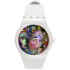 Artistic Confusion Of Brain Fog Plastic Sport Watch (medium)