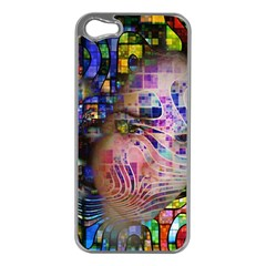 Artistic Confusion Of Brain Fog Apple iPhone 5 Case (Silver)