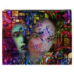 Artistic Confusion Of Brain Fog Cosmetic Bag (XXXL)