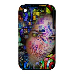 Artistic Confusion Of Brain Fog Apple iPhone 3G/3GS Hardshell Case (PC+Silicone)