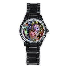 Artistic Confusion Of Brain Fog Sport Metal Watch (Black)