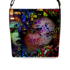 Artistic Confusion Of Brain Fog Flap Closure Messenger Bag (Large)