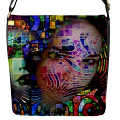 Artistic Confusion Of Brain Fog Flap Closure Messenger Bag (Small)