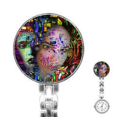 Artistic Confusion Of Brain Fog Stainless Steel Nurses Watch