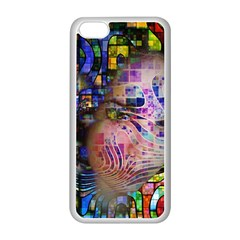 Artistic Confusion Of Brain Fog Apple iPhone 5C Seamless Case (White)