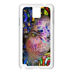 Artistic Confusion Of Brain Fog Samsung Galaxy Note 3 N9005 Case (white)