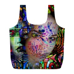 Artistic Confusion Of Brain Fog Reusable Bag (L)