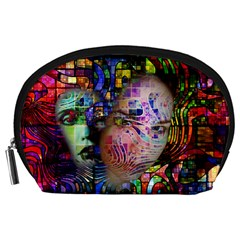 Artistic Confusion Of Brain Fog Accessory Pouch (large)