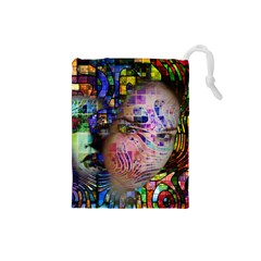 Artistic Confusion Of Brain Fog Drawstring Pouch (Small)