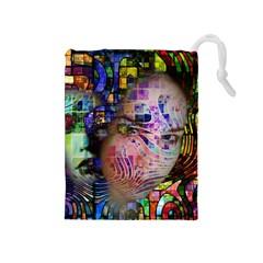 Artistic Confusion Of Brain Fog Drawstring Pouch (medium)