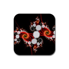 Mysterious Dance In Orange, Gold, White In Joy Drink Coasters 4 Pack (Square)