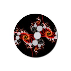 Mysterious Dance In Orange, Gold, White In Joy Drink Coasters 4 Pack (round)