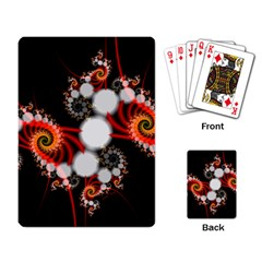Mysterious Dance In Orange, Gold, White In Joy Playing Cards Single Design