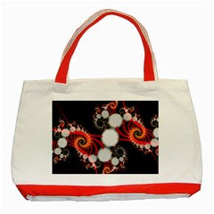 Mysterious Dance In Orange, Gold, White In Joy Classic Tote Bag (red)