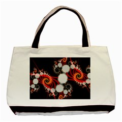 Mysterious Dance In Orange, Gold, White In Joy Twin-sided Black Tote Bag