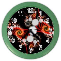 Mysterious Dance In Orange, Gold, White In Joy Wall Clock (color)