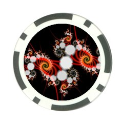 Mysterious Dance In Orange, Gold, White In Joy Poker Chip