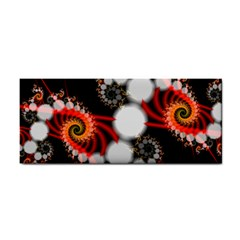 Mysterious Dance In Orange, Gold, White In Joy Hand Towel