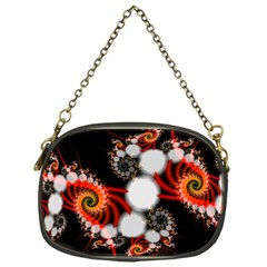 Mysterious Dance In Orange, Gold, White In Joy Chain Purse (one Side)