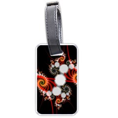 Mysterious Dance In Orange, Gold, White In Joy Luggage Tag (Two Sides)