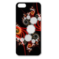 Mysterious Dance In Orange, Gold, White In Joy Apple Seamless Iphone 5 Case (clear)