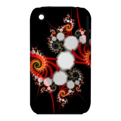 Mysterious Dance In Orange, Gold, White In Joy Apple iPhone 3G/3GS Hardshell Case (PC+Silicone)