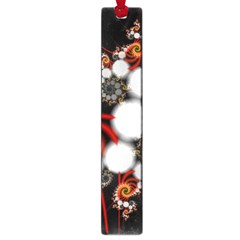 Mysterious Dance In Orange, Gold, White In Joy Large Bookmark