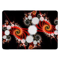 Mysterious Dance In Orange, Gold, White In Joy Samsung Galaxy Tab 8.9  P7300 Flip Case