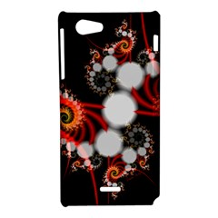 Mysterious Dance In Orange, Gold, White In Joy Sony Xperia J Hardshell Case