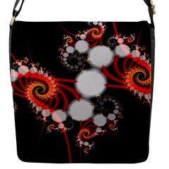 Mysterious Dance In Orange, Gold, White In Joy Flap Closure Messenger Bag (small)