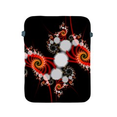 Mysterious Dance In Orange, Gold, White In Joy Apple Ipad Protective Sleeve