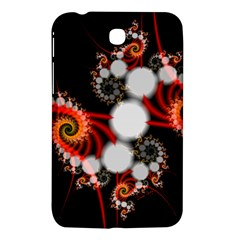 Mysterious Dance In Orange, Gold, White In Joy Samsung Galaxy Tab 3 (7 ) P3200 Hardshell Case