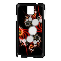 Mysterious Dance In Orange, Gold, White In Joy Samsung Galaxy Note 3 N9005 Case (black)