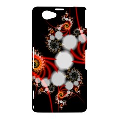 Mysterious Dance In Orange, Gold, White In Joy Sony Xperia Z1 Compact Hardshell Case