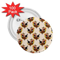 Vintage Halloween Witch 2.25  Button (100 pack)
