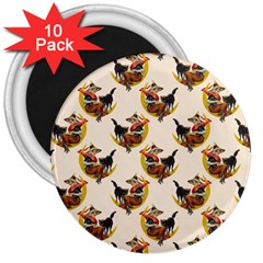 Vintage Halloween Witch 3  Button Magnet (10 pack)