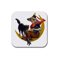 Vintage Halloween Witch Drink Coasters 4 Pack (Square)