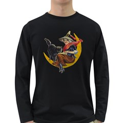 Vintage Halloween Witch Men s Long Sleeve T-shirt (Dark Colored)
