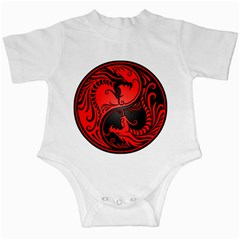 Yin Yang Dragons Red And Black Infant Bodysuit