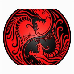 Yin Yang Dragons Red and Black Canvas 12  x 16  (Unframed)