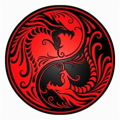 Yin Yang Dragons Red and Black Canvas 16  x 16  (Unframed)