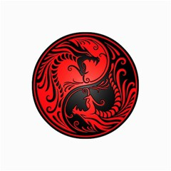 Yin Yang Dragons Red and Black Canvas 20  x 30  (Unframed)